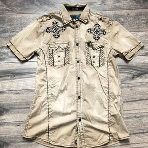 Roar signature beige shirt sleeve hiking shirt